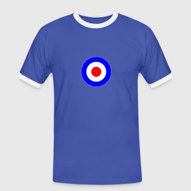 Great Britain France Europe Mod Target DigitalDirekt - Men's Ringer Shirt