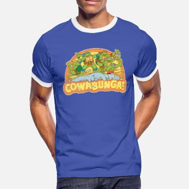 Tmnt TMNT  Surfing Turtles - Men's Ringer Shirt