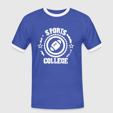 sports college football americain - T-shirt contrasté Homme