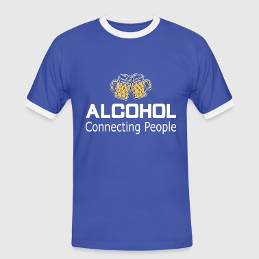 Alcohol Connecting People - Mannen contrastshirt