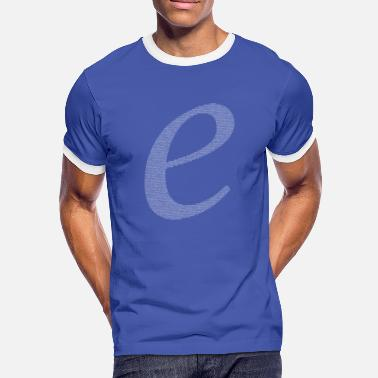 Decimal Numbers in decimals: Natural Constant e - Men's Ringer Shirt