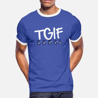 Monday Tuesday Wednesday Thursday TGIF - Thank god it's friday - Männer Kontrast-T-Shirt