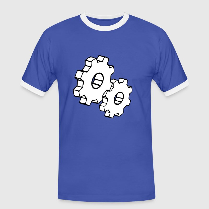 Engrenages - Männer Kontrast-T-Shirt