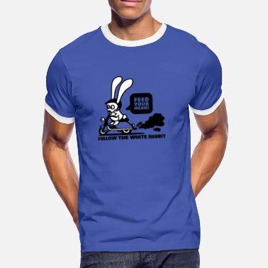 Feed-your Head follow the white rabbit - Männer Ringer T-Shirt