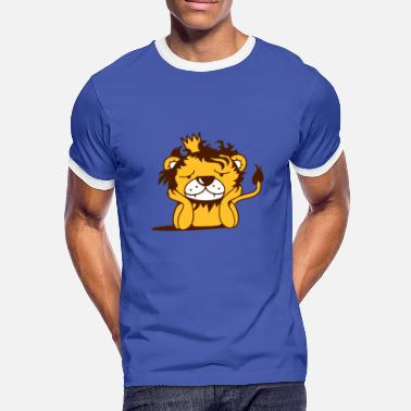 Lion Crown lion with crown - Men's Ringer Shirt
