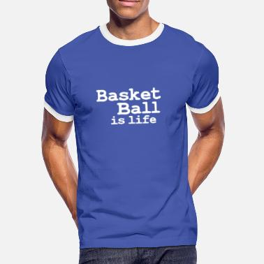 I Love Korfbal basketball is life - Mannen contrastshirt