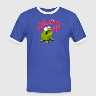 whats up frog - Mannen contrastshirt