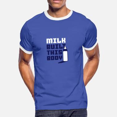 Titten Kuss milk built this body - Männer Kontrast-T-Shirt