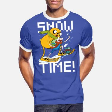 Adventure Time Finn And Jake Snow Time - Naisten u-aukkoinen t-paita