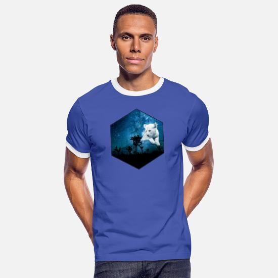 Forest T-Shirts - lion cub - Men's Ringer T-Shirt blue/white