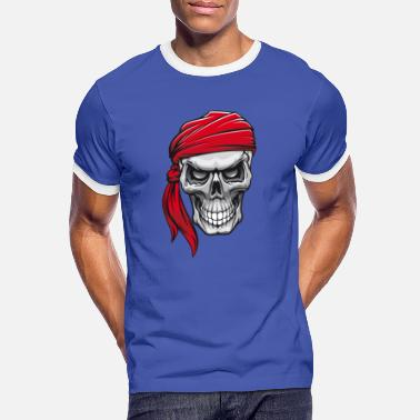 Pirate Skull Pirate Skull Skull in Pirate Bandana - Men's Ringer T-Shirt