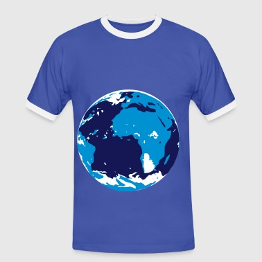 world - Mannen contrastshirt