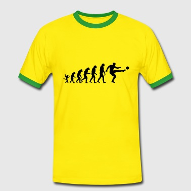 Evolution of soccer - Men's Ringer Shirt