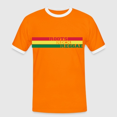 roots rock reggae - Kontrast-T-shirt herr