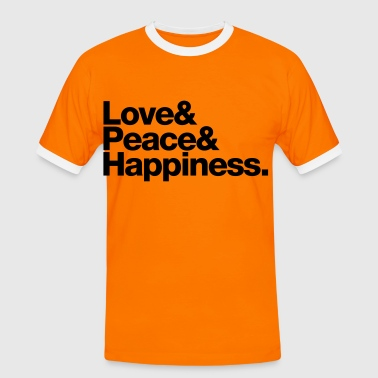 love peace happiness - Männer Kontrast-T-Shirt