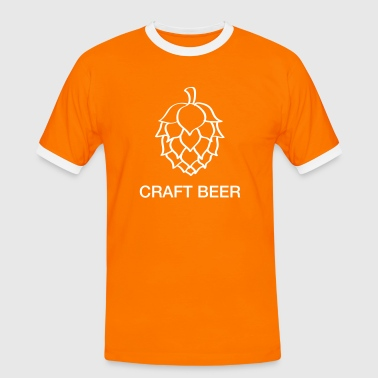 Craft beer - Kontrast-T-shirt herr
