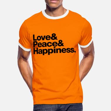 Jetset love peace happiness - Camiseta contraste hombre