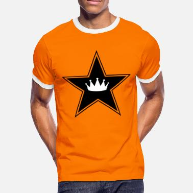 Star Crown Star and Crown - Men's Ringer Shirt