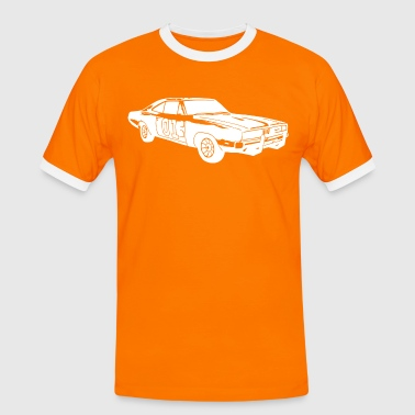 General Lee Dodge Charger - Männer Kontrast-T-Shirt