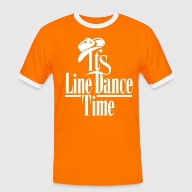 ITS LINE DANCE TIME - Mannen contrastshirt