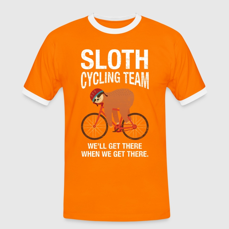 Sloth Cycling Team - Mannen contrastshirt
