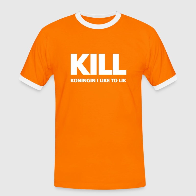 KILL: Koningin I like to lik - Mannen contrastshirt