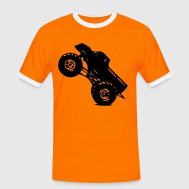 Orange/schwarz Monstertruck T-Shirts - Männer Kontrast-T-Shirt
