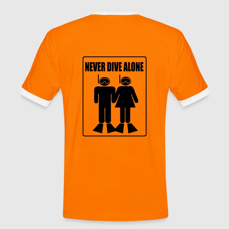 Never Dive Alone - Men's Ringer Shirt