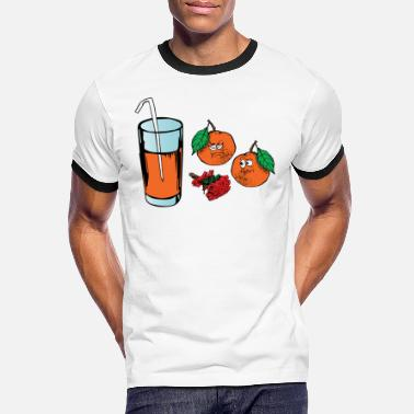 Funeral Orange orange juice. Funny design. Gift - Men's Ringer T-Shirt