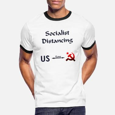 Lenin Socialist Distancing - US vs. Socialism - Men's Ringer T-Shirt