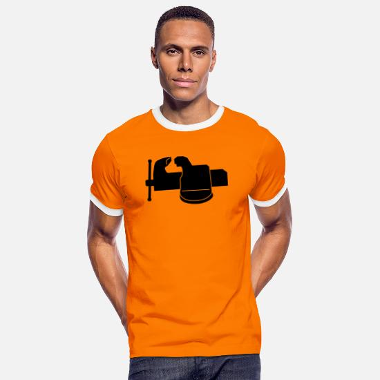 Career T-Shirts - bench _vise_m1 - Men's Ringer T-Shirt orange/white
