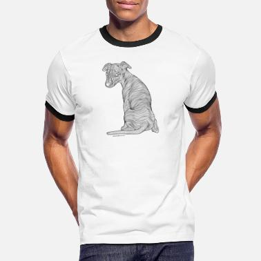 Whippet black line - Men's Ringer T-Shirt