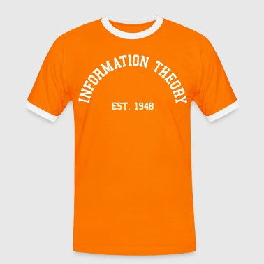 Information Theory - Est. 1948 (Half-Circle) - Men's Ringer Shirt