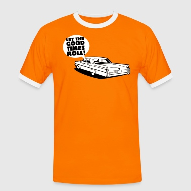 Let the good times roll!, Low Rider, Cadillac - Männer Kontrast-T-Shirt
