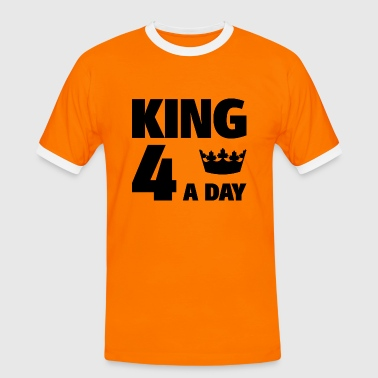 King 4 a day - Mannen contrastshirt