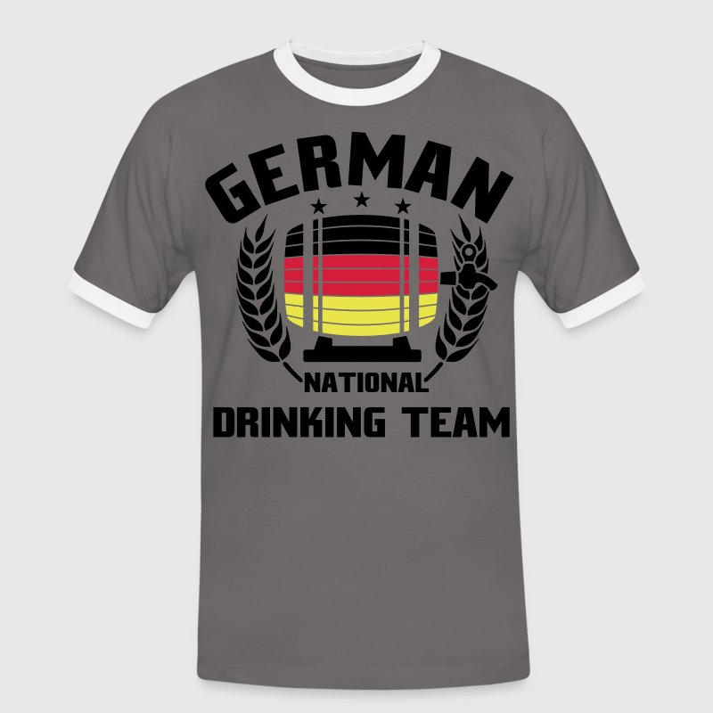NATIONAL DRINKINGTEAM GERMANY - Männer Kontrast-T-Shirt