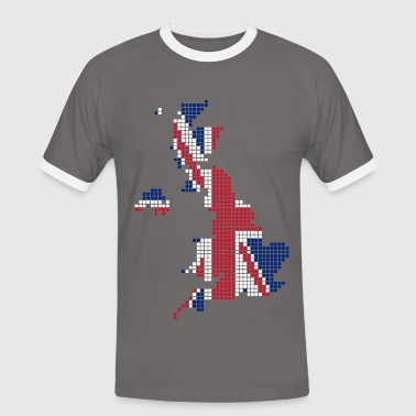 UK pixelated flag digital - Men's Ringer Shirt