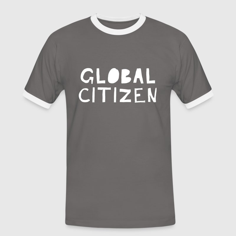 Global Citizen - Männer Kontrast-T-Shirt
