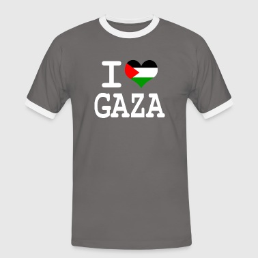 i love Gaza - Kontrast-T-skjorte for menn