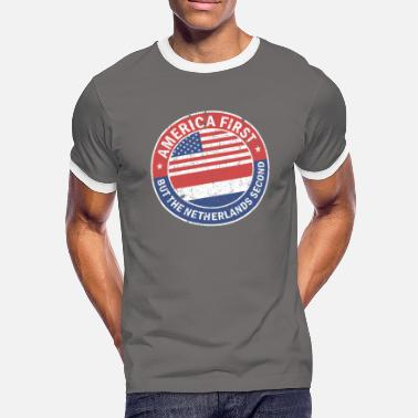 Second AMERICA FIRST - Mannen contrastshirt