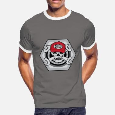 Mechanical Skull Mechanic Skull - Men's Ringer Shirt