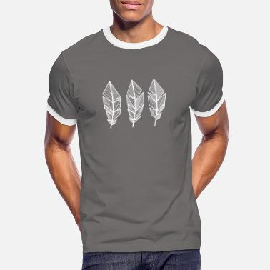 Indie Pattern feather / boho, hippie, linear, geo - Men's Ringer T-Shirt