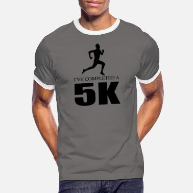 i ve completed a 5k jogging quote jog - Men's Ringer T-Shirt