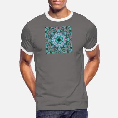 Light KALEIDOSCOPE ABSTRACT LILIES 2 FLOWERS 2 - Men's Ringer T-Shirt