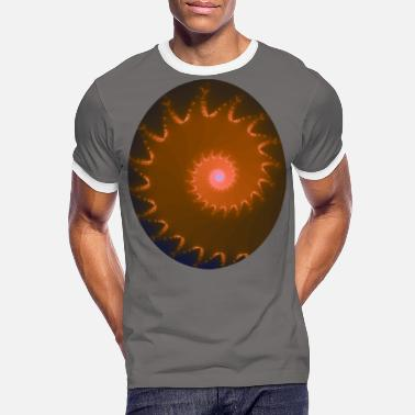 Oval Window Fraktal snigel oval - Kontrast T-shirt herr