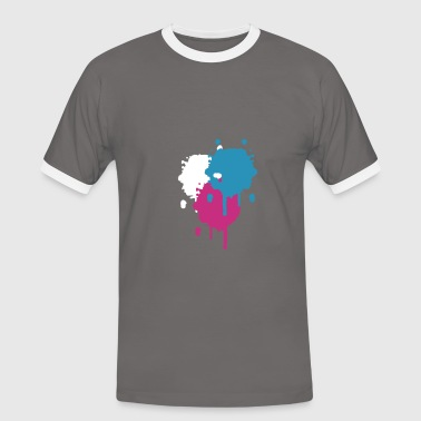 Three bright color spots in graffiti style - Men's Ringer Shirt