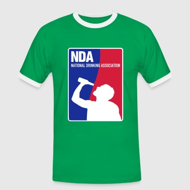 NDA National Drinking Association - Männer Kontrast-T-Shirt