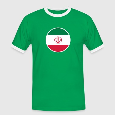 Iran, إيران, Irán, Flaggen, flags, Länder, countries, الثورة, Revolution, انقلاب, eushirt.com - Männer Kontrast-T-Shirt