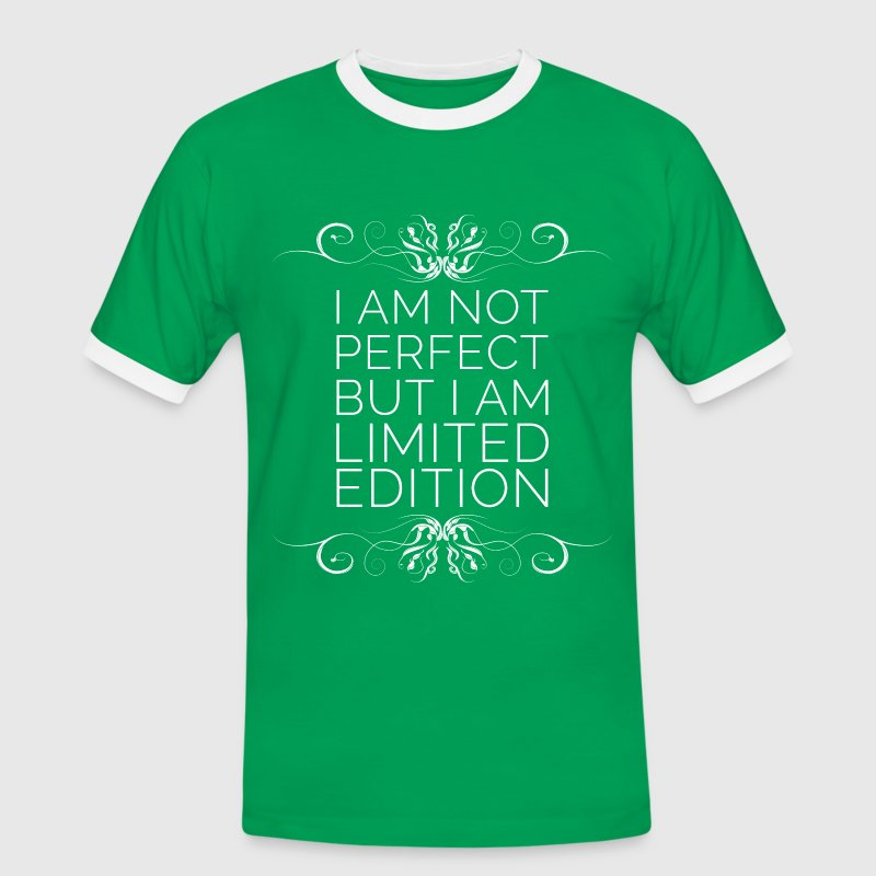 I Am Not Perfect But I'm Limited Edition (blanc) - T-shirt contrasté Homme
