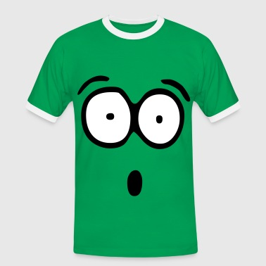Smiley Face Funny Face, Cartoon Face, Trickfilm, Smiley - Mannen contrastshirt